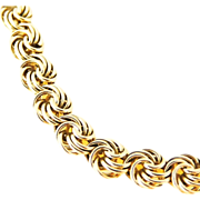 SALE Love Knot Bracelet 14k Gold