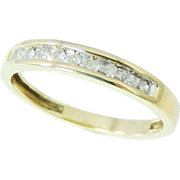 SALE DIAMOND Wedding Band Ring 10k Gold .20 ctw