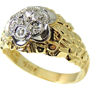 REDUCED Estate Men's DIAMOND 10k Gold Ring Extraordinary