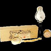 SOLD Antique Coe's Gilding Wheel Tool PLUS 4 Rolls of 24k Gold Leaf Gild
