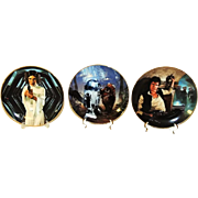 Star Wars Collector Plates Limited Ed w COA and Boxes Hamilton Collection
