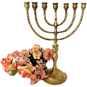 Antique Brass Menorah