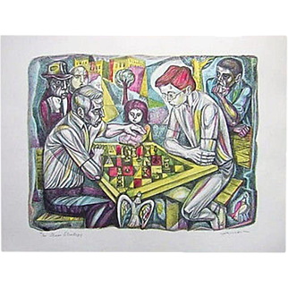 REDUCED Irving Amen  The Chess Strategy  Print Signed  10/300