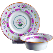 SOLD FOUR Royal Doulton C.1911 Urn Pattern  Ramekins & Plates  Custard Cup