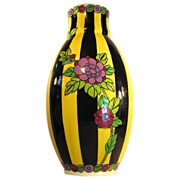 "SOLD 12"" x 6""  Boch Freres  Vase  Majolica  Charles Catteau  1920's"