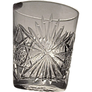 SALE EIGHT  Cut Glass  Shot Glass  Cordial  Liquor  c.1900's