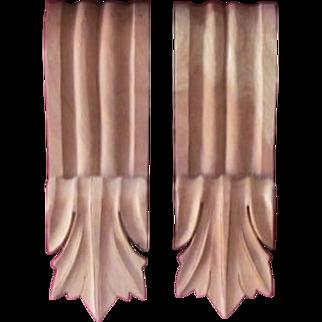 SALE Corbel  PAIR  Solid Wood  Hand Carved  Mahogany  Bracket