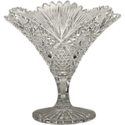 SALE MUSEUM QUALITY Cut Glass  Compote  Comport  Vase