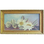 SOLD Oil Painting on Board  Still Life  Gesso Gold Frame  1880-1910 Victorian