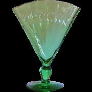 Steuben Fan Vase Carder Era 1903-1933 Green