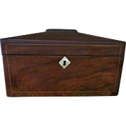Rosewood Tea Caddy English 1840-60