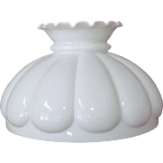 """Lamp Shade White Opal 13"""" Parlor Hanging Kerosene Oil"""
