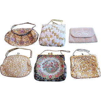 GROUP-SIX Vintage Purse Handbag Clutch France Belgium Japan