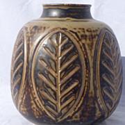 1950s Denmark Studio Stoneware Vase by Gerd Bogelund for Royal Copenhagen