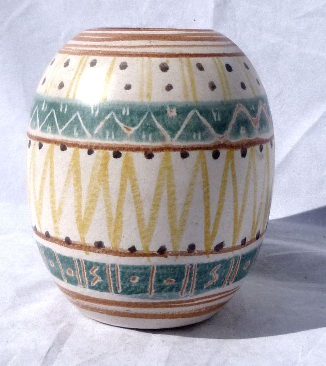 1951 Michael Andersen Denmark Hand Painted Art Pottery Vase