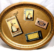 REDUCED Baker Chocolate Large Advertising Trompe l'oeil Tray