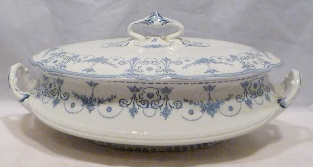 Royal Doulton Josephine Covered Vegetable Bowl c.1900