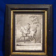 REDUCED 1777 Engraving of Frederick The Great by Berger