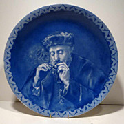 """Antique Limoges Hand Painted 13.5"""" Charger"""
