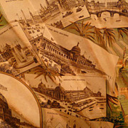 1893 Columbian Expo Rare Large Pictorial Fan