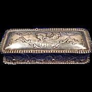 REDUCED 1902 Birmingham Sterling Silver Box with Cherubs