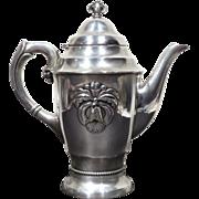 REDUCED Danish Art Deco Gero Georg Nilsson Silver Plate Orchid Coffee Pot