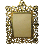 REDUCED Cast Iron Ornate Frame Marked AF