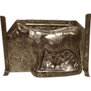 REDUCED Large Antique Tin Chocolate Mold Bull or Ox