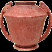 REDUCED Large Roseville Carnelian II Handled Vase 334-8