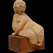 REDUCED Renato Bassoli Original Mid Century Nude Terra Cotta Sculpture