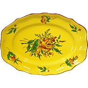 "Elyssee by Luneville Faience de France Louis XV Strasbourg Yellow 14"" Platter"