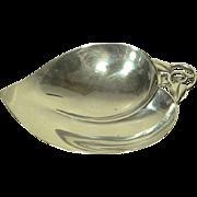 Tiffany & Co. Makers Modernist Sterling Leaf Bowl