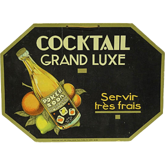French Art Deco Soda Advertising Sign
