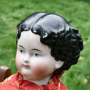 """24"""" Uncommon Modified Flat Top China Doll, Damaged Shoulder Plate"""