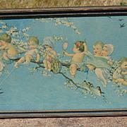"c.1920s Twelvetrees Print, Original Frame, ""Joy Buds"" / ""Out on a Limb"", B"