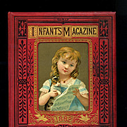 SOLD 1882 Infant's Magazine Filled with High Quality Engravings, Children, Pets, Scripture , F