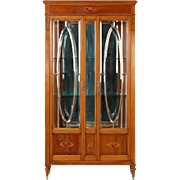 Edwardian Antique Glass Display Cabinet in French Taste