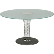 SALE Andreas Stoeriko for B&B Italia Modern Sculpted Wire Circular Round Dining Table, Mid ...