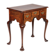 SALE American Pennsylvania Chippendale Lowboy Antique Chest of Drawers over Trifid Feet, Walnu