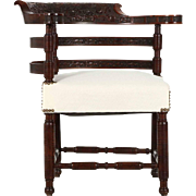 SALE Rare Antique Rosewood Corner Chair, Finely Carved, Aesthetic Movement c. 1880
