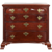 SALE American Chippendale Antique Chest of Drawers, Oxbow Form, Connecticut c. 1780