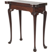 REDUCED American Queen Anne Card Table, Antique, Massachusetts late 18th Century c. 1780