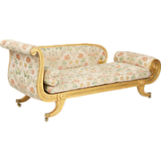 SALE Exceptional Regency Period Recamier Sofa Chaise Lounge c. 1820