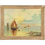 SALE Nicholas Briganti Venice Antique Painting Signed