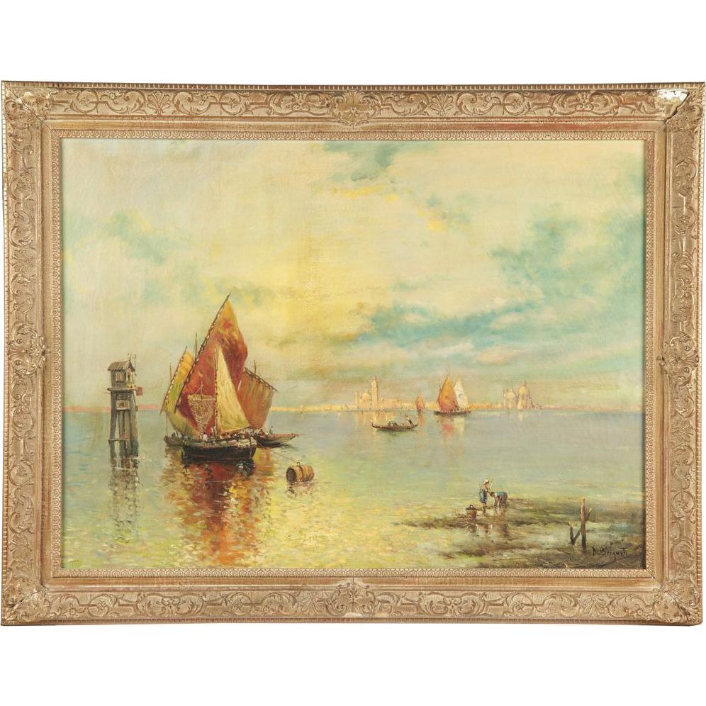 Nicholas Briganti Venice Antique Painting Signed