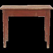 American Scrubbed Pine Harvest Table, Antique 19th Century, Pennsylvania