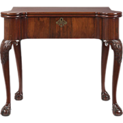 SALE English Antique Chippendale Card Table, 18th Century c. 1730