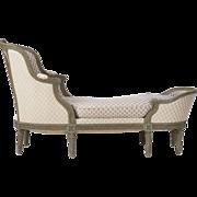 SALE French Louis XVI Antique Chaise Longue Lounge Settee, c. 1900
