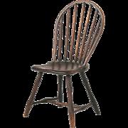 American Bowback Antique Windsor Side Chair, Pennsylvania c. 1800