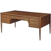 French Provincial Style Bureau Plat by Baker, 20th Century